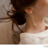 《ZC1621》質感樹葉流蘇耳夾式/耳針式耳環 OrangeBear