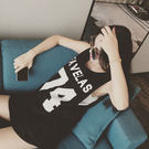 (全館一件免運)DE shop~長款T恤學生寬鬆字母印花內搭衫簡約無袖【PP- 746】