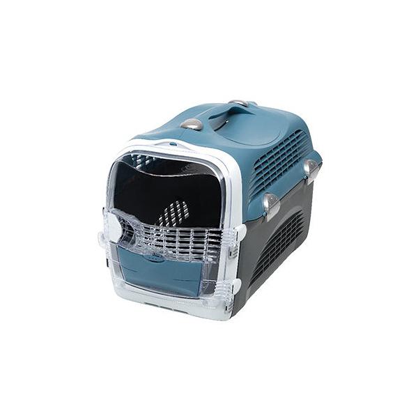 寵物家族-HAGEN 赫根 愛旅行外出提籃 外出航空箱 運輸籠-敞篷型(紳灰藍)