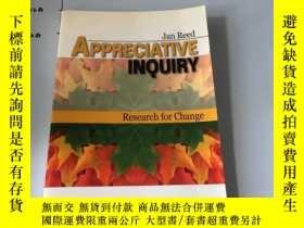 二手書博民逛書店英文原版:Appreciative罕見Inquiry: Rese