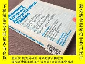 二手書博民逛書店Monthly罕見Interest Amortization T
