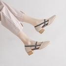 潮女涼鞋 瑪麗珍鞋奶奶鞋單鞋女仙女風2021年新款春中跟粗跟晚晚風溫柔鞋【快速出貨八折鉅惠】