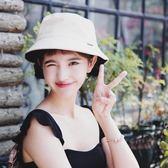 漁夫帽子女夏韓版百搭日系原宿遮陽帽雙面小清新軟妹可愛學生盆帽【PINKQ】