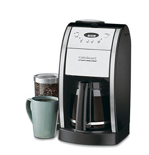 【美國代購】Cuisinart DGB-550BK Grind&Brew自動咖啡機12杯銀 黑