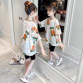 女童T恤 女童短袖體T恤2021夏季新款女孩洋氣童裝純棉半袖兒童夏裝上衣潮【快速出貨】