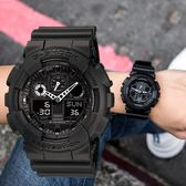 G-SHOCK 消光黑 GA-100-1A1 多層次錶盤運動錶 GA-100-1A1DR 熱賣中!