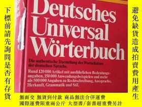 二手書博民逛書店DUDEN罕見Deutsches Universal-Wörte