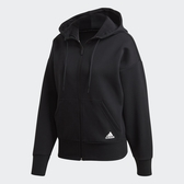ADIDAS 3-Stripes 女裝 外套 連帽 休閒 袋鼠口袋 三條線 黑【運動世界】FR5113