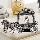 歐式復古擺臺相框 3 5 6寸創意裝飾擺件個性小馬車照片框可洗照片【全館免運八五折任搶】