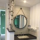 浴鏡 現代家用壁掛浴室鏡衛生間洗手臺衛浴鏡酒店民宿裝飾掛鏡圓形鏡子