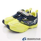 【MOONSTAR】日本月星頂級競速童鞋 2E勝戰獸運動系列 SSJ8675深藍黃(中大童段)