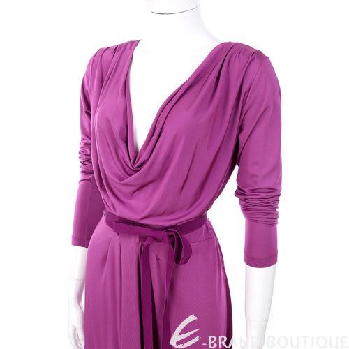 PHILOSOPHY 紫色垂墜領綁帶蝴蝶結飾洋裝 1120140-04