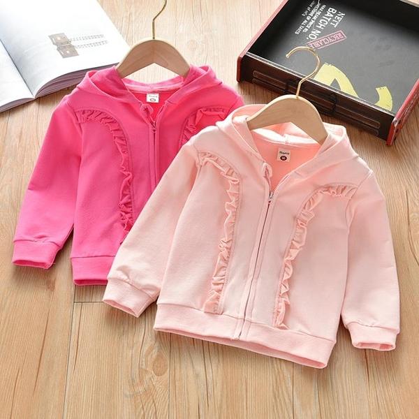 女童外套春秋童裝小女孩上衣女寶寶春季衛衣兒童洋氣運動套