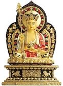 地藏王菩薩CC17銅鎏金佛像8寸8【十方佛教文物】
