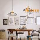 [吉客家居] 吊燈- 托其原木鐵線  造型時尚簡約北歐復古工業美式鄉村客廳餐廳吧檯玄關民宿咖啡館