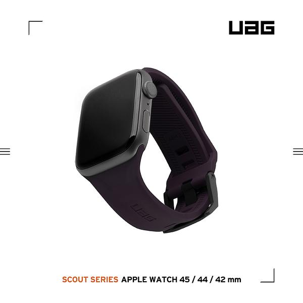 UAG Apple Watch 42/44/45mm 潮流矽膠錶帶-紫