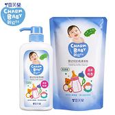 雪芙蘭 親貝比 嬰幼兒奶瓶清潔劑 奶蔬洗潔液 (1罐700ml+1補充包600ml) 9961 好娃娃