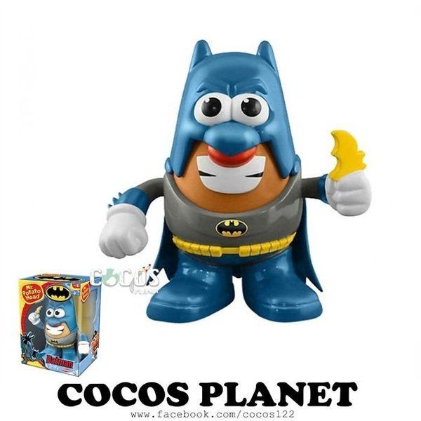 正版 Playskool 蛋頭先生DC英雄 漫畫經典蝙蝠俠 公仔玩具組 COCOS TG559