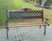 BROTHER 兄弟牌歐式雙人花網鑄鐵公園椅(附椅背)* 4 張