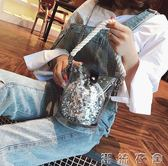 子母包新款小包包夏天新款韓版仙女透明果凍包亮片子母包鍊條斜背包   潮流衣舍