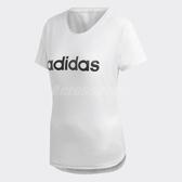 adidas T恤 Design 2 Move Logo Tee 女款 短袖 上衣 素面 網眼 白 【ACS】 DU2080