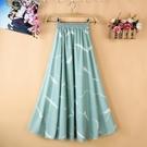 半身裙2021新款夏氣質流行高端長裙雪紡碎花裙子女長款顯瘦女裝潮小艾新品