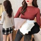 基本款純色坑紋針織衫 包蕊紗打底毛衣 4色【RK67307】
