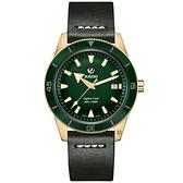 RADO 雷達 庫克船長青銅自動機械腕錶-42mm R32504315