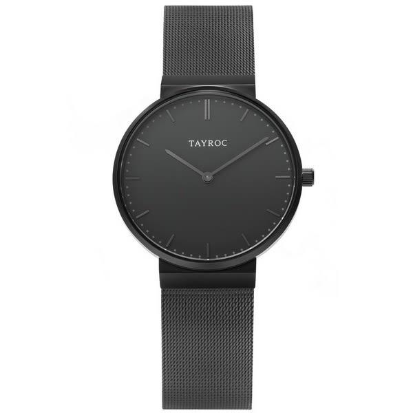 【台南 時代鐘錶 TAYROC】英國簡約現代風 SLATE 米蘭帶時尚腕錶 TY182 黑 40mm
