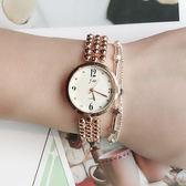 時尚百搭潮流時裝錶學生手錶 氣質簡約OL鏈條飾品女錶《小師妹》yw159