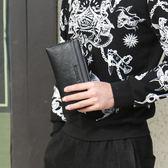 男士手包大容量信封包軟皮料手拿包商務手抓包時尚潮流休閒男包 免運直出 聖誕交換禮物