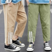 兒童防蚊褲 男童褲子夏裝薄款兒童冰絲燈籠防蚊褲中大童夏季休閒棉麻長褲潮童