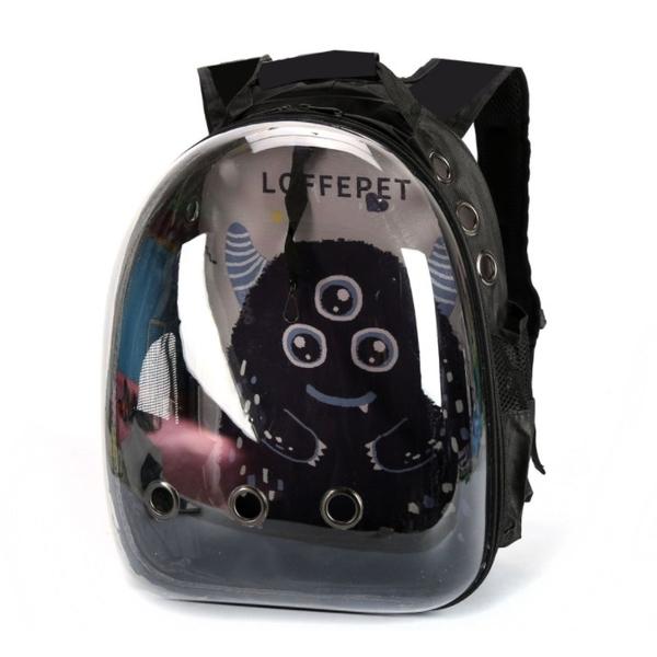 此商品48小時內快速出貨》dyy》小怪獸太空艙透氣外出雙肩透明寵物背包 寵物包42*18*31cm