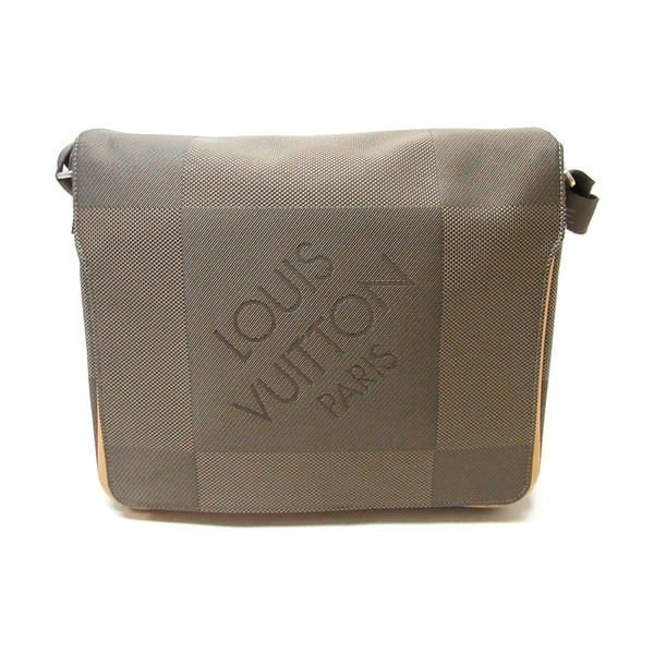 LOUIS VUITTON LV 路易威登 帆布掀蓋斜背郵差包 Messager M93030【二手名牌BRANDOFF】
