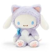 〔小禮堂〕大耳狗 沙包絨毛玩偶娃娃《S.紫》沙包玩具.擺飾.變裝貓咪系列 4901610-24458
