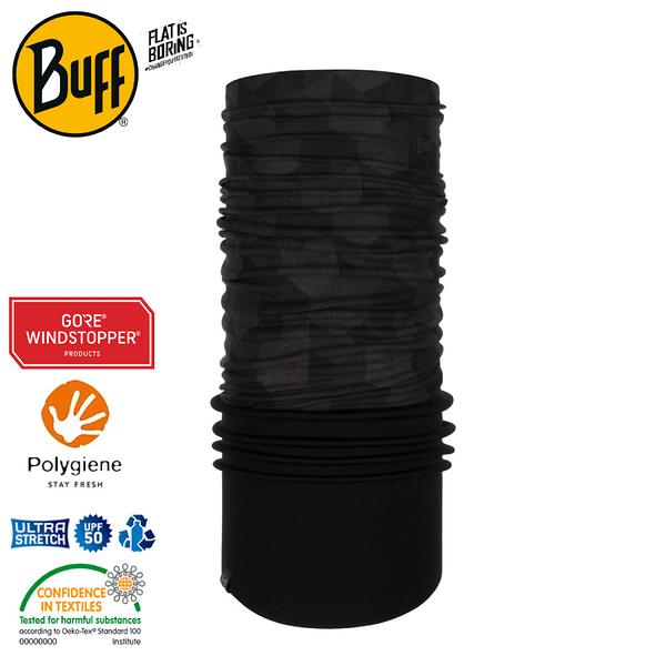 【BUFF 西班牙 Windproof防風頭巾 Plus 幾何立方】121522/圍脖/帽子/口罩/圍巾/防風透氣