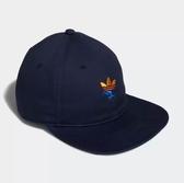 X-adidas ORIGINALS TWO-TONE TREFOIL SNAPBACK 黑色 藍紅黃 三葉草 休閒 運動 帽子DH2579