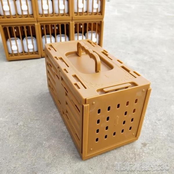 畫眉鳥上山小排籠快遞運輸籠格籠媒籠鸚鵡外出便攜塑膠膠鳥籠子YYJ 凱斯盾