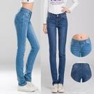 新款牛仔褲女彈力大碼牛仔加長寬鬆顯瘦薄款小直筒休閒長褲潮『小淇嚴選』