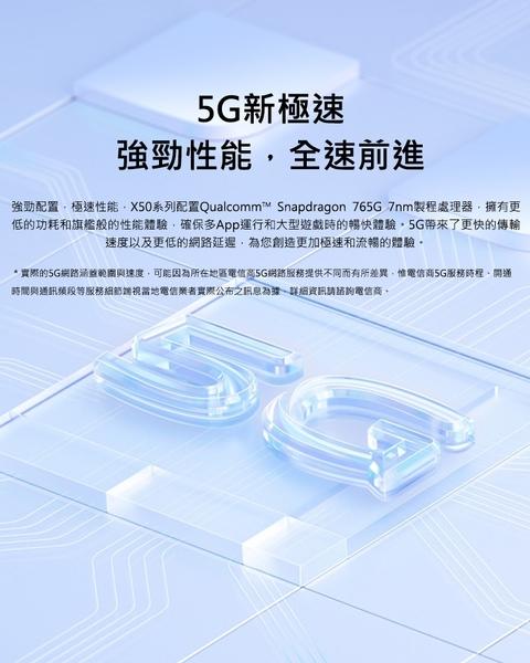 【送空壓殼-內附保護套+保貼】vivo X50 Pro 8G/256G