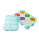 nac nac 矽膠副食品儲存盒/製冰盒/分裝盒 6格