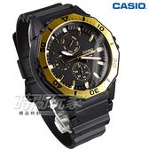 CASIO卡西歐 MRW-400H-9A 潛水運動風DIVER LOOK 旋轉式錶圈大錶面指針男錶 防水 黑x金 MRW-400H-9AVDF