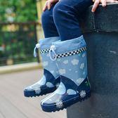 兒童雨靴 兒童雨鞋男童膠鞋防滑中大童雨靴寶寶女水鞋小童學生小孩 宜室家居