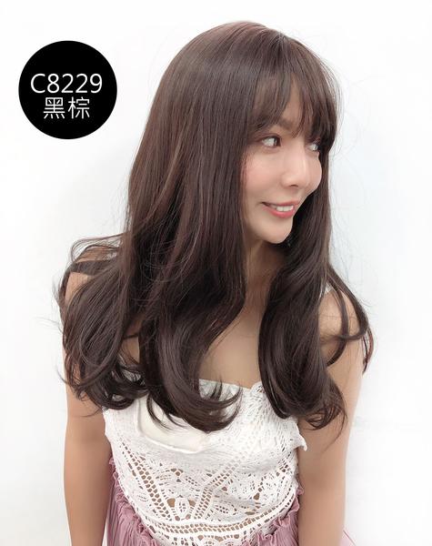 全頂假髮 氣質波浪大捲 中長髮 C8229 魔髮樂 三色