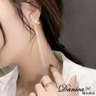 現貨 韓國女神氣質浪漫幾何羽翼寶石水鑽925銀針流蘇耳環 S93812 批發價 Danica 韓系飾品 韓國連線