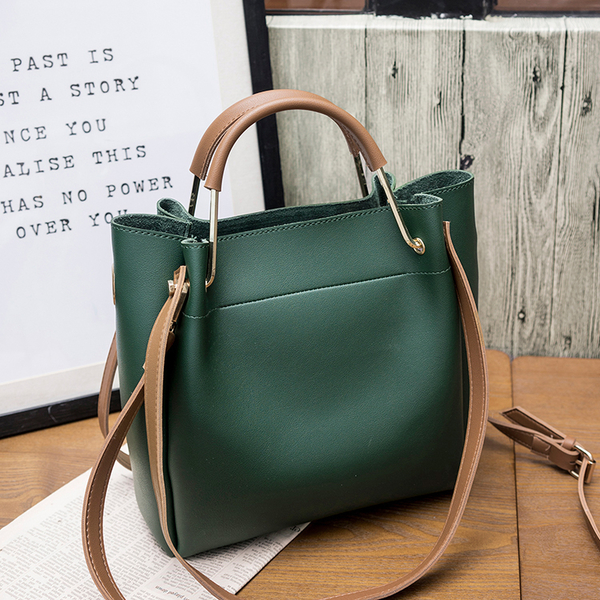 包包女2019新款女包水桶包潮韓版簡約百搭斜挎包手提包單肩包大包-ifashion