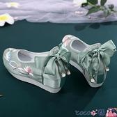 古風鞋子 櫻雀繡花鞋女漢服鞋子古風內增高6cm厚底登云履民族風漢服搭配鞋 coco