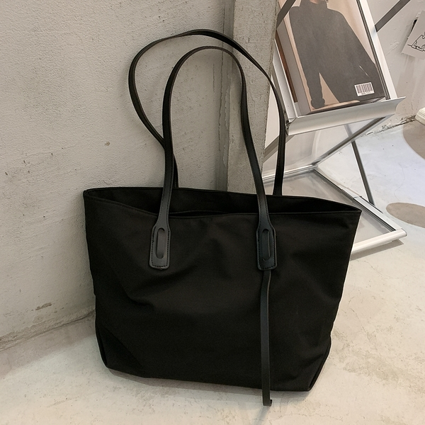 側背包 法國質感流行包包女2021新款潮百搭大容量托特包簡約側背手提大包 韓國時尚 618
