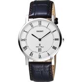 ORIENT東方 羅馬復刻手錶-白x咖啡/38mm FGW0100HW