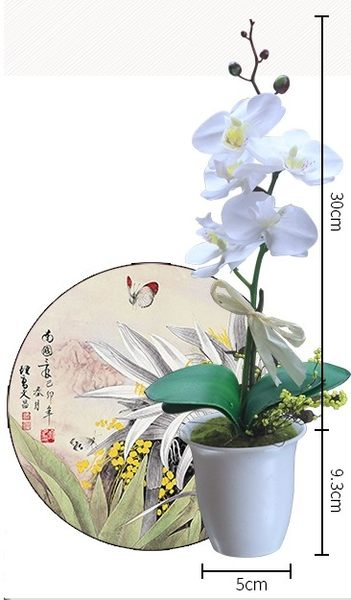 [協貿國際]蝴蝶蘭仿真花小盆栽單個價